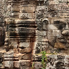 Giant carved heads at Bayon Temple in Angkor Wat, Cambodia