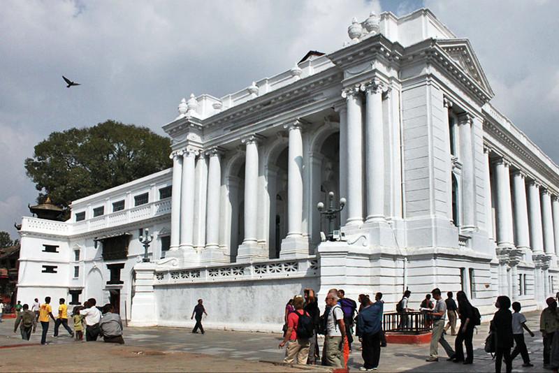 Impressive Royal Palace at Durbar Square in Kathmandu, Nepal