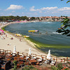 Main public beach in Sozopol, Bulgaria, a traditional fishing village on the Black Sea