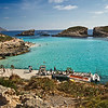The Blue Hole, a popular swimming hole on the tiny island of Comino in the Maltese Islands