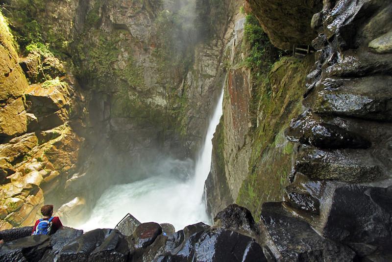 Pailon del Diablo (Devil's Cauldron) Waterfall near Banos, Ecuador