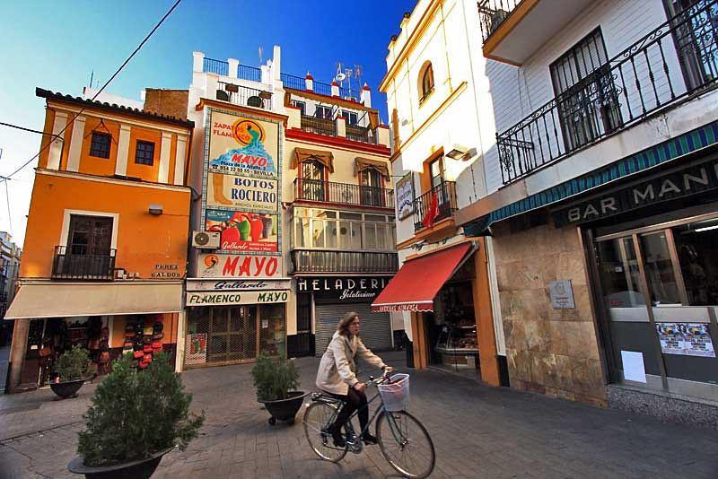 Charming little plaza in Seville, Spain