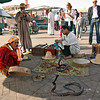 Snake charmers in Djemaa El-Fna Square in Marrakech, Morocco