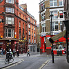 The artsy SOHO neighborhood of London