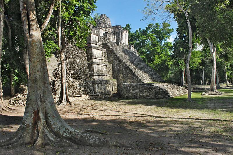 Dzibanche Mayan Ruins in the southern Yucatan peninsula, Mexico