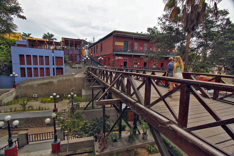 Make a wish before walking across this bridge for the first time in the Lima neighborhood of Barranco