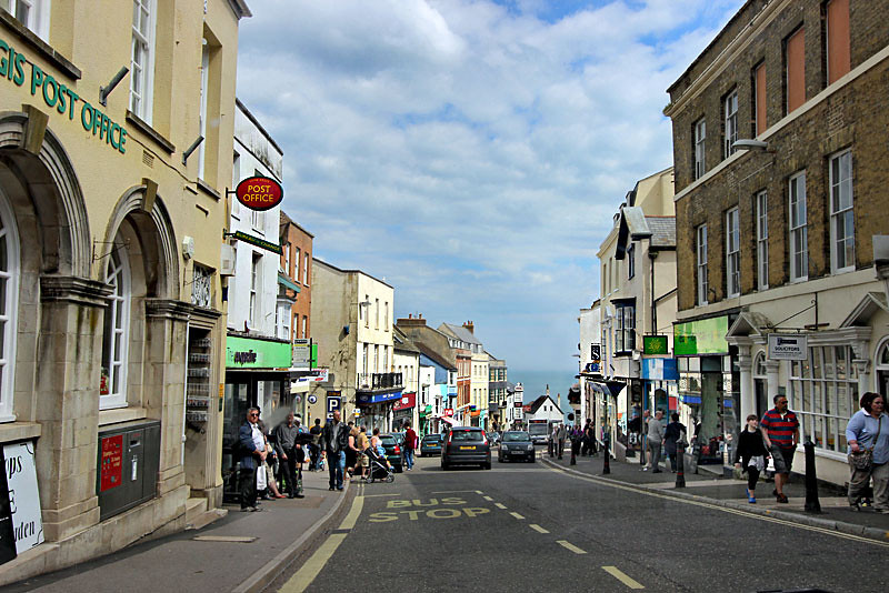 Seaside town of Lyme Regis, on the southwest coast of England in County Dorset