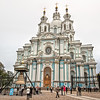 Smolny Cathedral and Convent was built to house Elizabeth, the daughter of Peter the Great, after she was banned from succession to the throne