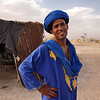 Blue Man at his camp in the Sahara Desert of Morocco
