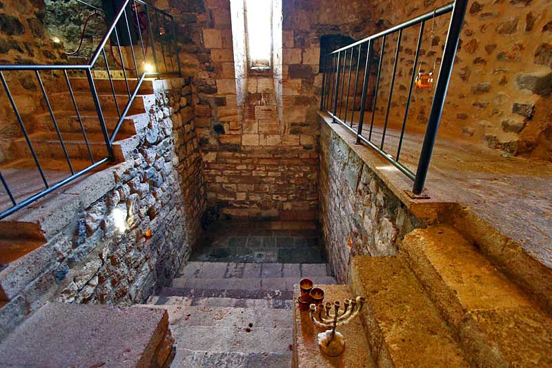 Ritual Jewish Mikveh (bath) in Besalu, Spain is only one ever discovered in Catalonia, Spain