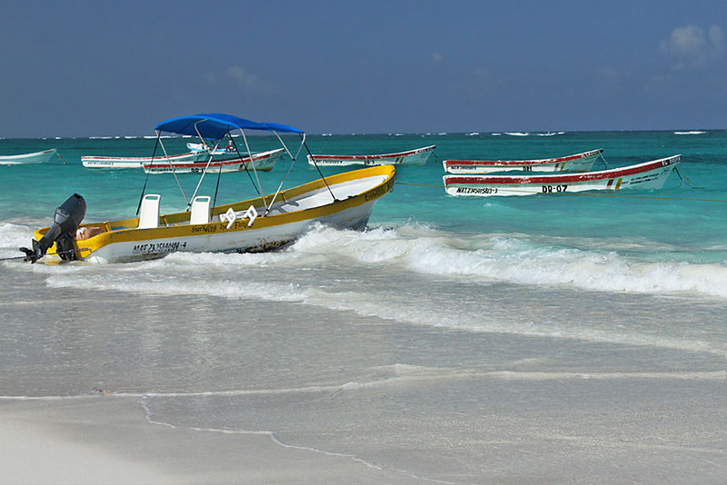 El Paraiso Beach in Tulum, on the east coast of the Yucatan peninsula, Mexico