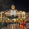 Municipal Palace on Central Plaza in Chiclayo, Peru is beautifully illuminated at night