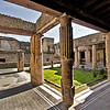 Courtyard at House of the Black Room, excavated at Herculaneum, Italy