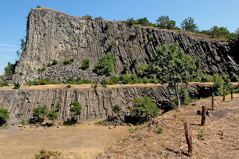 Eight million year old lava fountains at Hegyestu, Hungary cooled into this mountain of Basalt columns