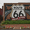 One of more than 20 giant murals in downtown Pontiac, Illinois that celebrate historic U.S. Route 66, which runs through the center of town