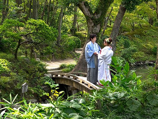 Wedding at Shukkei-en Garden in Hiroshima, Japan