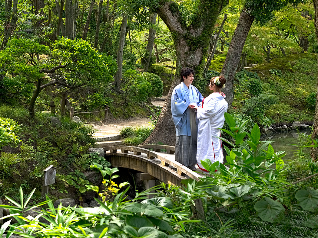 Wedding at Shukkei-en Garden in Hiroshima, Japan