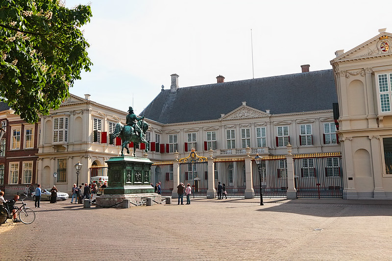 Noordeinde Palace at The Hague, which is the seat of government in the Netherlands