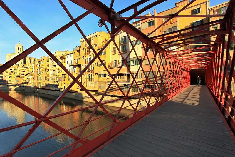 Bridge over the Onyar River in Girona, Spain, built by Eiffel, was a prelude to his famous Paris tower