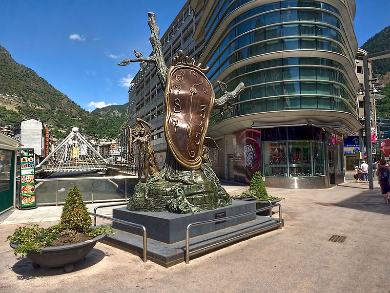 Surrealist Salvador Dali sculpture in Andorra la Vella, Andorra