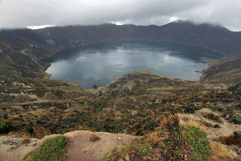Quilotoa Caldera, an extinct collapsed volcano