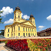 Calvinist Great Church on Kossuth Square in Debrecen, Hungary
