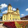 Calvinist Great Church on Kossuth Square in Debrecen, Hungary