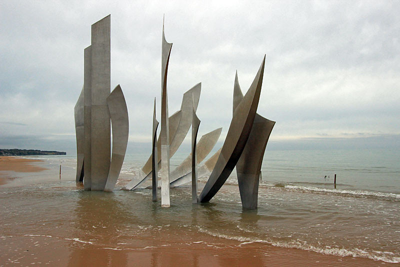 Les Braves WWII Memorial, Omaha Beach, Normandy, France