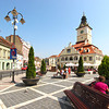 Piata Sfatului, the main plaza in the heart of the Old Town, Brasov, Romania