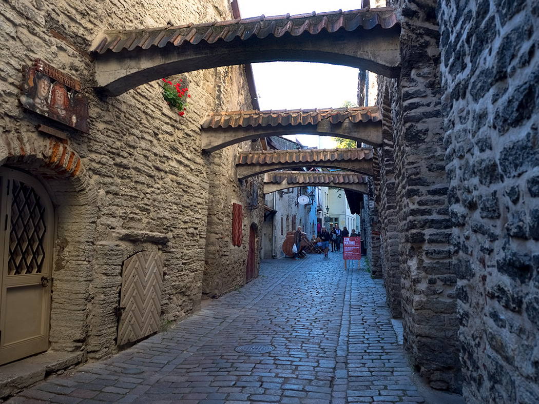 Saint Catherine's Passage in Tallinn, Estonia