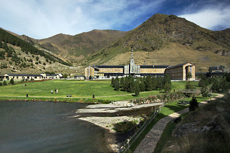 Vall de Nuria sanctuary in Catalonia is a favorite day trip for Spaniards