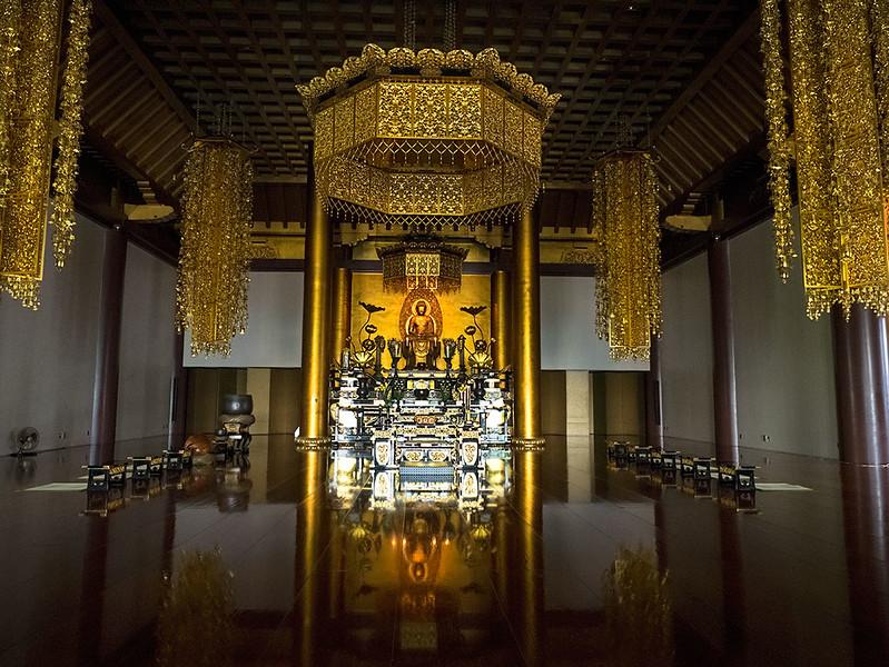 Main Hall at Zojoji Temple complex in Tokyo, Japan