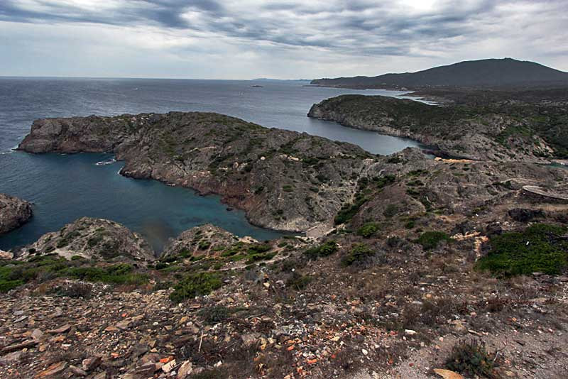 Wild and desolate landscape at Cap de Creus Natural Park in Catalonia, Spain