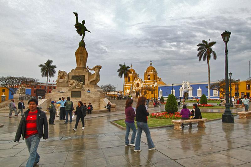 Plaza de Armas, main square in Trujillo, Peru