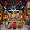 Chinese Buddhists worship at Mai Pung Tao Gong Ancestral Temple in Chiang Mai, Thailand