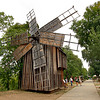 Windmill from eastern Romania is one of many structures at Dimitrie Gusti National Village Museum in Bucharest