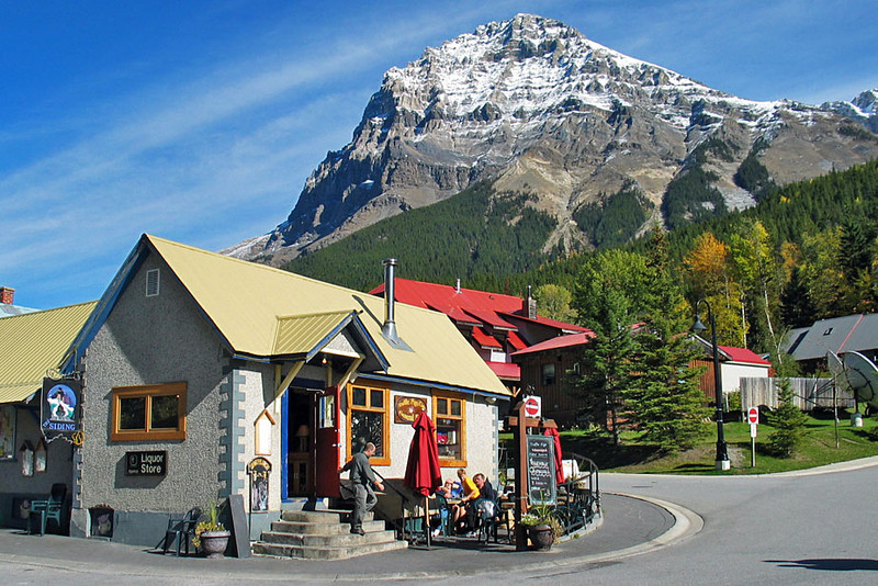 Pretty Little Town of Field, Canada, in Yoho National Park