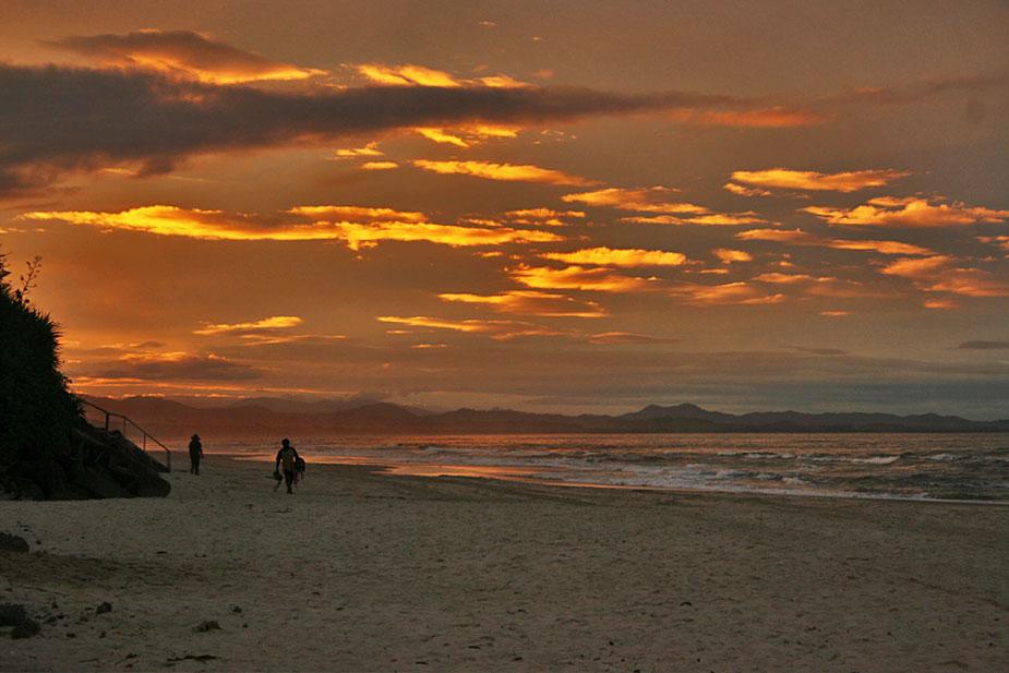 Sunset over Byron Bay, east coast of Australia