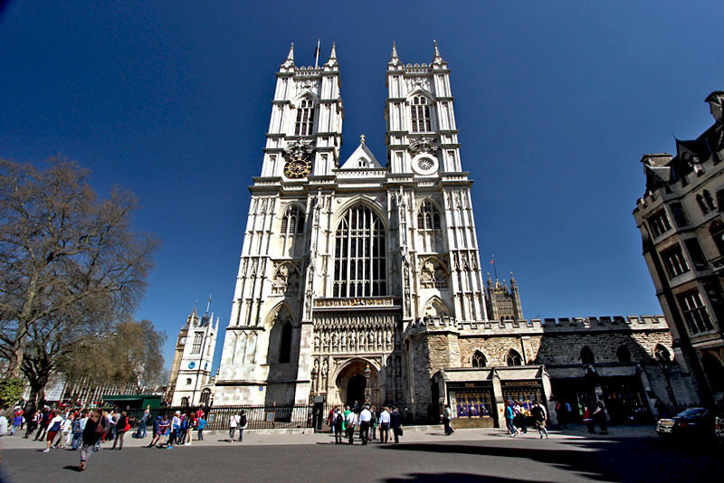 Westminster Abbey in London, home to many Royal events over the centuries