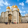 Dormition Cathedral, Patriarch's Palace, and Church of the Twelve Apostles inside the grounds of the Kremlin in Moscow