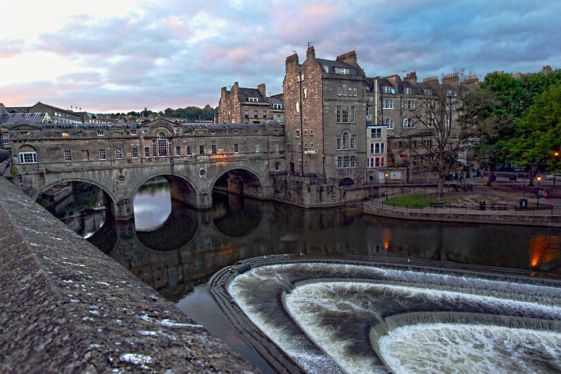 Neoclassic Pulteney Bridge in Bath, England was based on an unused design for the Rialto Bridge in Venice