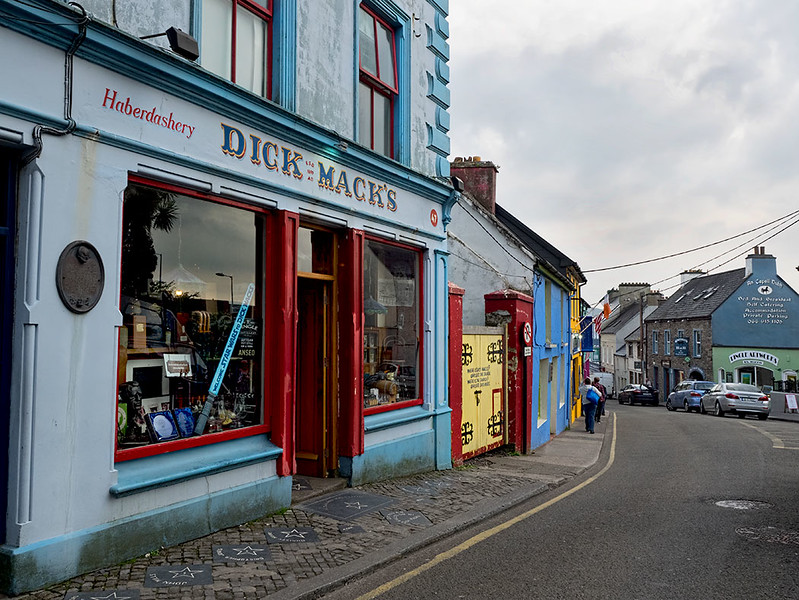 Typical street scene in the town of Dingle, Ireland