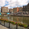 Historic buildings on the Graslei and Korenlei in Ghent, Belgium