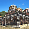 Church at Rila Monastery, the most famous Eastern Orthodox monastery in Bulgaria, named after the hermit Ivan of Rila