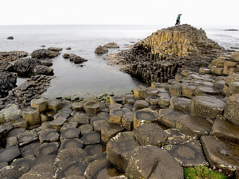Basalt columns on the Giant's Causeway in Northern Ireland