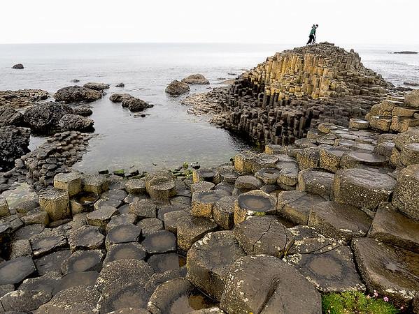 Basalt columns on the Giant's Causeway in Northern Ireland