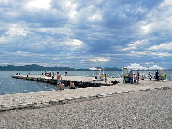 Pier on the Riva in Zadar, Croatia