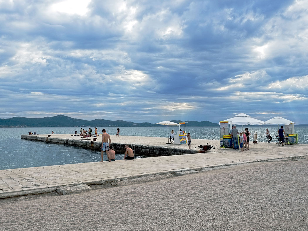 Pier on the Riva in Zadar, Croatia