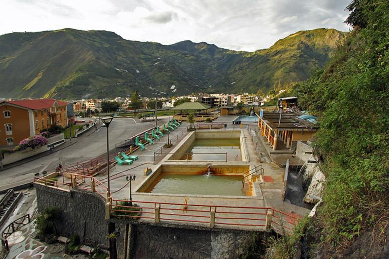 Termas de la Virgen Thermal Baths in Banos, Ecuador