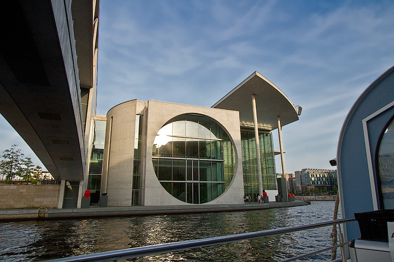 Government building, part of the Bundeskanzleramt (the German chancellery) in Berlin, seen during a cruise on the River Spree